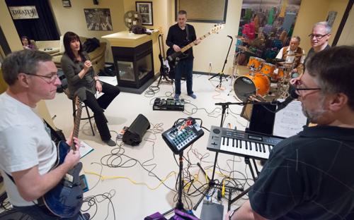 Shades of Grey band practice in Kanata, Ontario, February 16, 2017. Photo by Garth Gullekson