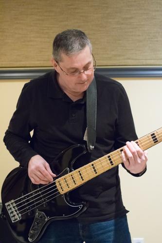 Scott Darlington at the Shades of Grey band practice in Kanata, Ontario, February 16, 2017. Photo by Garth Gullekson