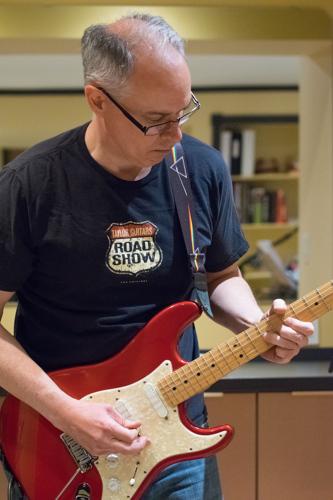 Rick Martin at the Shades of Grey band practice in Kanata, Ontario, February 16, 2017. Photo by Garth Gullekson